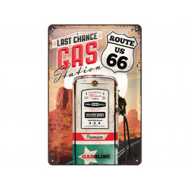 Nostalgic Arts Route 66 Gas Station Blechschild (20x30cm)
