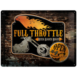 Nostalgic Arts Full Throttle Blechschild (30x40cm)