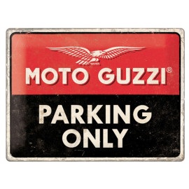Nostalgic Arts Moto Guzzi Parking Only Blechschild (30x40cm)