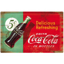 Nostalgic Arts Coca-Cola Delicious Refreshing Blechschild (40x60cm)