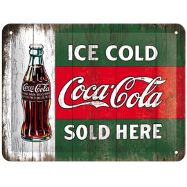 Nostalgic Arts Coca Cola Ice Cold Sold Here Blechschild (15x20cm)
