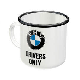 Nostalgic Arts BMW Drivers Only Emaille Becher