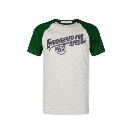 Kawasaki Engineered for Speed T-Shirt Herren (grau/grün)